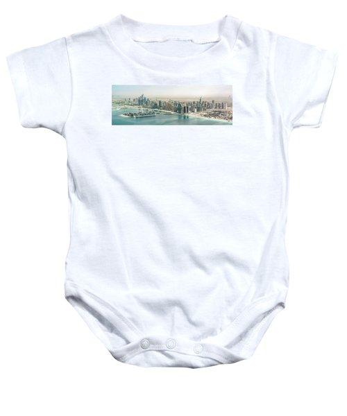 Dubai Aerial Panorama Baby Onesie