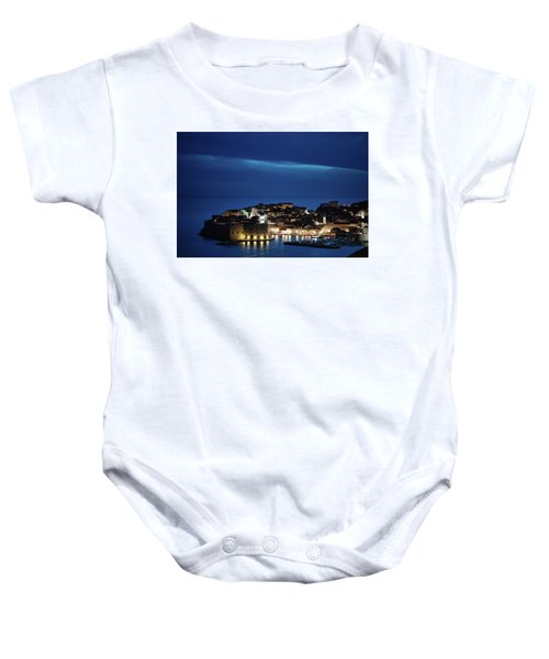Dubrovnik Old Town At Night Baby Onesie