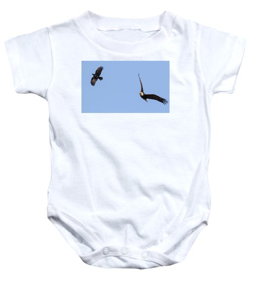 Eagle And Crow  Baby Onesie