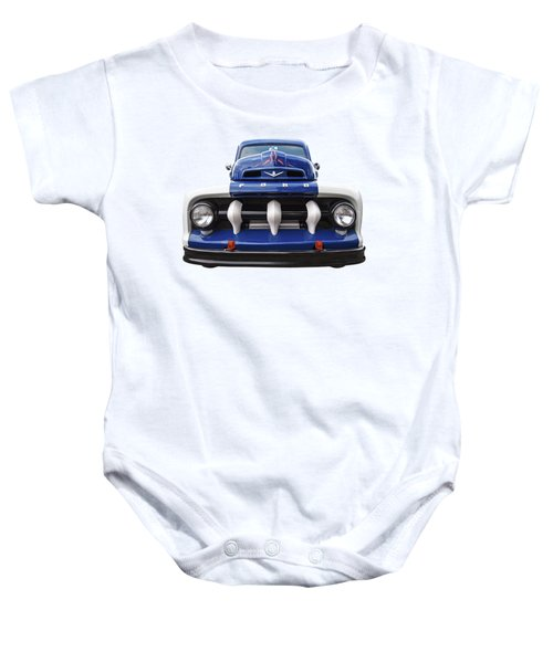 Early Fifties Ford V8 F-1 Truck Baby Onesie