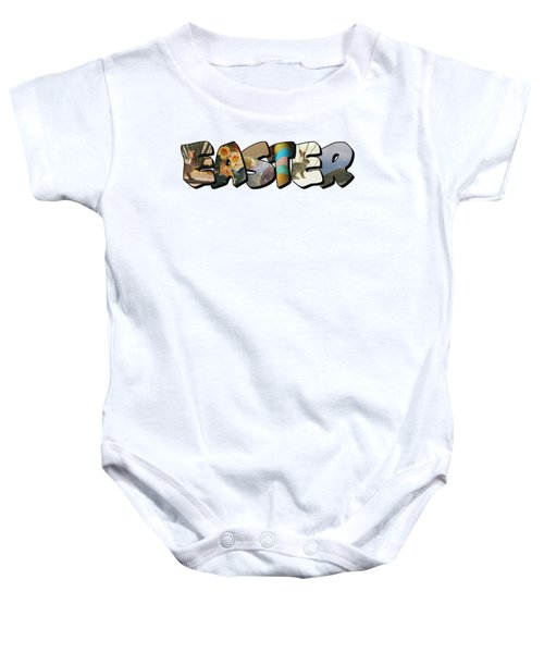 Easter Big Letter Baby Onesie