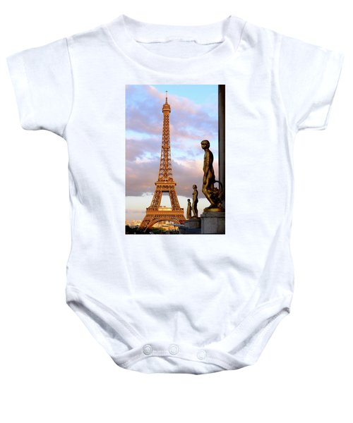 Eiffel Tower At Sunset Baby Onesie