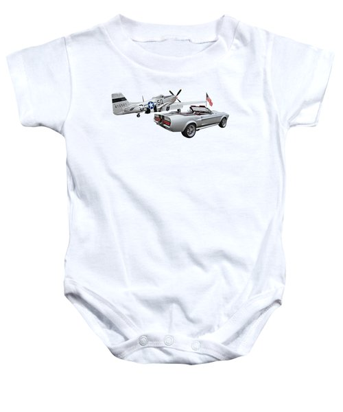 Eleanor Mustang With P51 Rear Baby Onesie