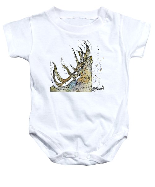 Elk Art Print By Olena Art Baby Onesie