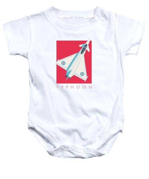 Typhoon Jet Fighter Aircraft - Crimson Baby Onesie