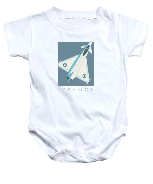 Typhoon Jet Fighter Aircraft - Slate Baby Onesie