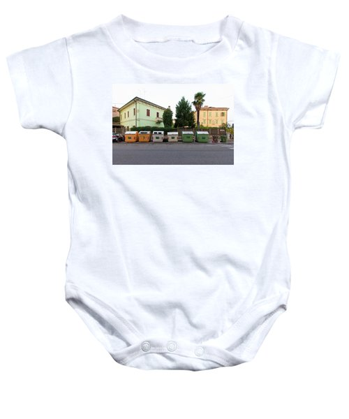 European New Topographics 4 Baby Onesie
