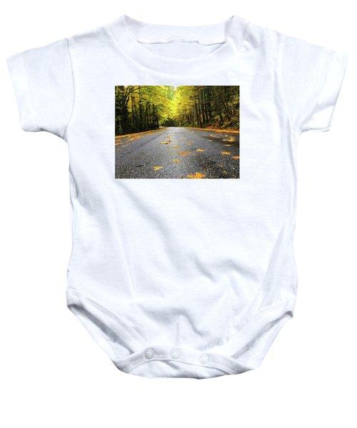 Fall Drive Baby Onesie