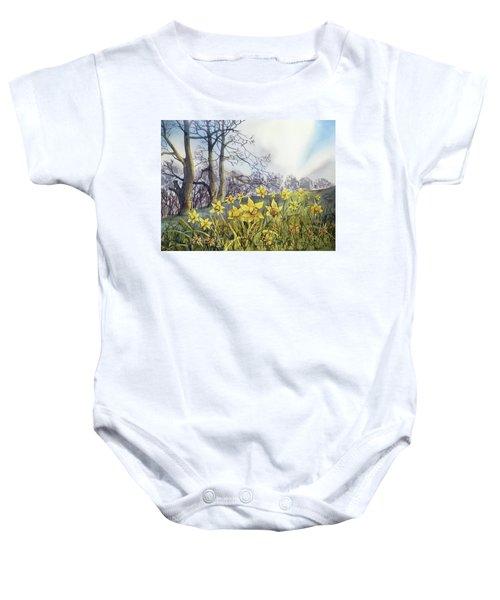 Field Of Hope At Burton Agnes Baby Onesie