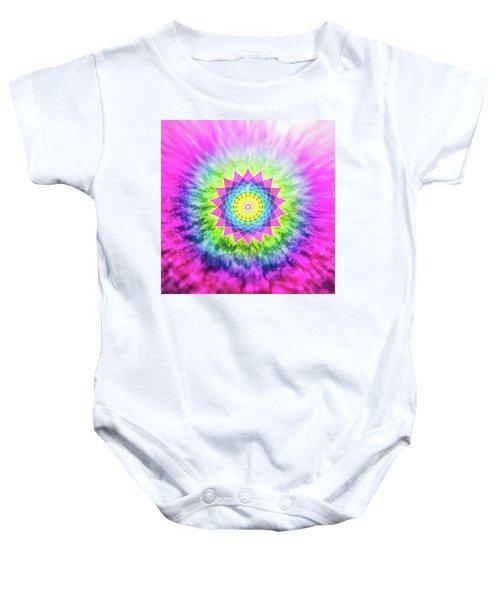 Flowering Mandala Baby Onesie