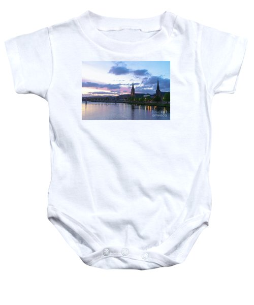 Flowing Down The River Ness Baby Onesie