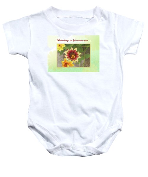 Friendship, A Smiling Indian Blanket Flower  Baby Onesie