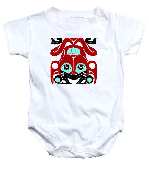 Frog - Northwest Coast Formline Design Baby Onesie