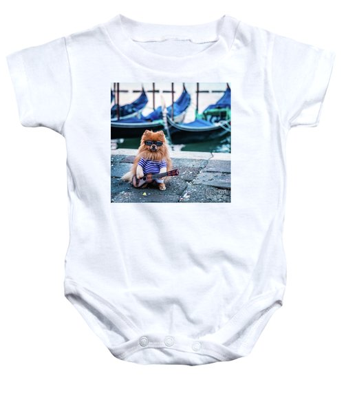 Funny Dog At The Carnival In Venice Baby Onesie