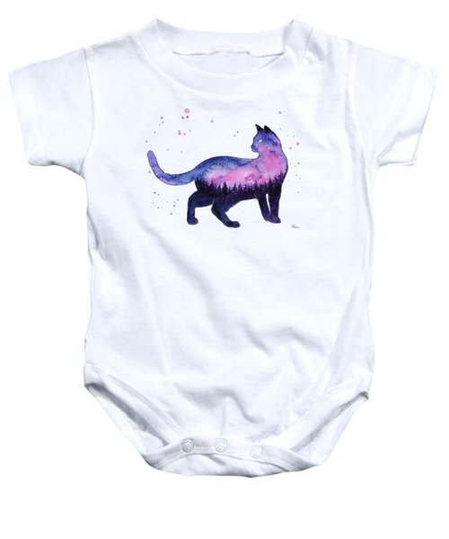 Galaxy Forest Cat Baby Onesie