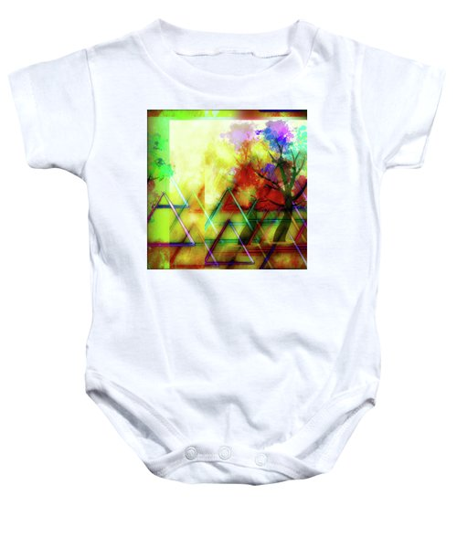 Geometric Abstract Baby Onesie