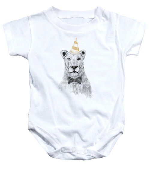 Get The Party Started Baby Onesie