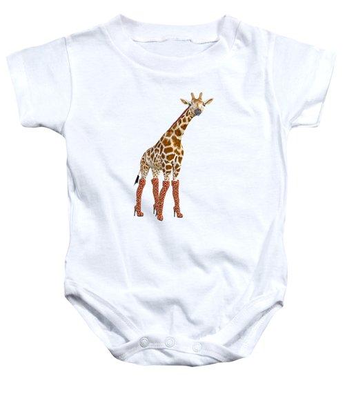 Giraffe Funny Pose Baby Onesie