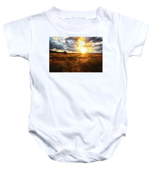 Golden Light Of Southern Arizona Baby Onesie