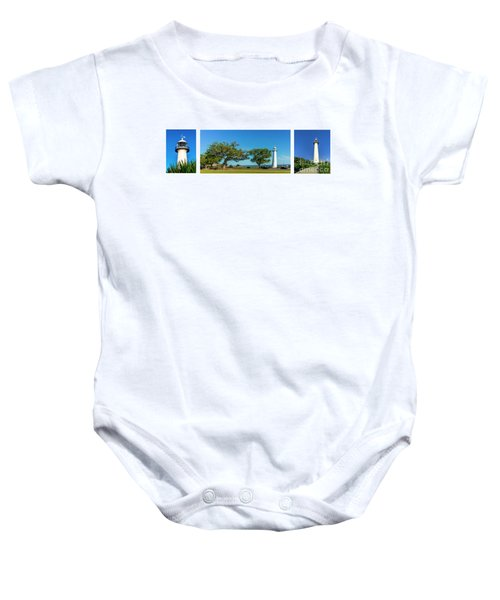 Grand Old Lighthouse Biloxi Ms Collage A1e Baby Onesie