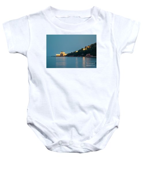 Great Wall At Night Baby Onesie