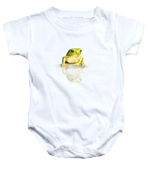 Green Tree Frog Baby Onesie