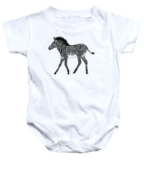 Grevy's Zebra Foal Baby Onesie