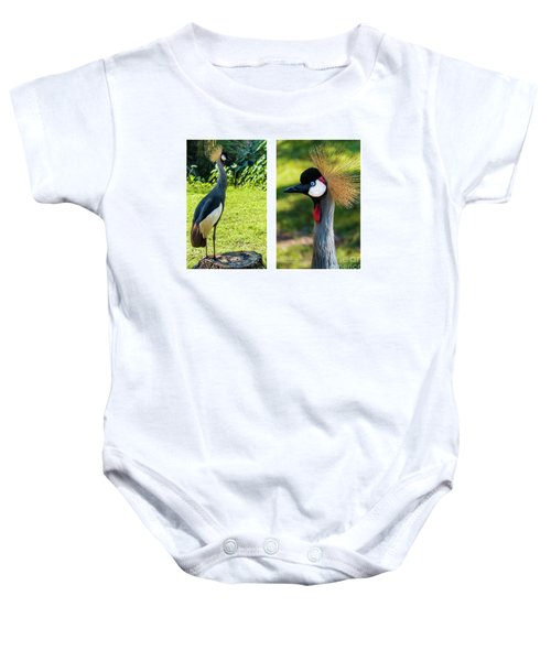 Grey Crowned Crane Gulf Shores Al Collage 10 Diptych Baby Onesie