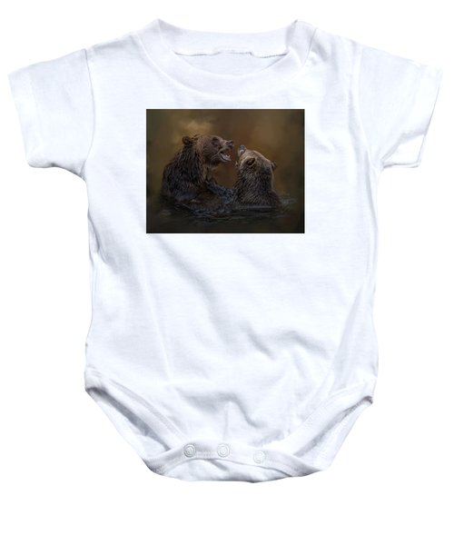Grizzlies At Play Baby Onesie