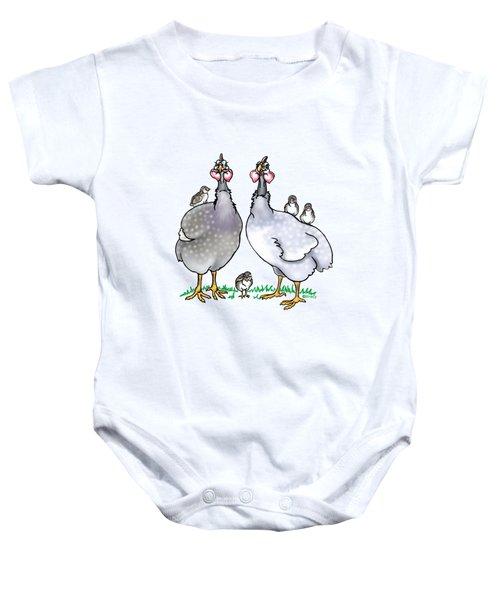 Guinea Fowl Family  Baby Onesie