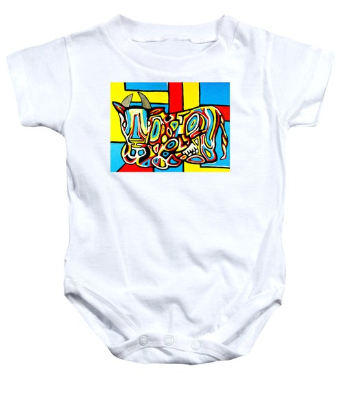 Haring's Cow Baby Onesie