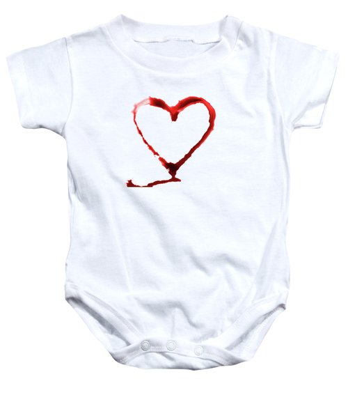Heart Shape From Splaches And Blobs Baby Onesie