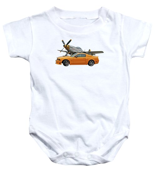 High Flyers - Mustang And P51 Baby Onesie