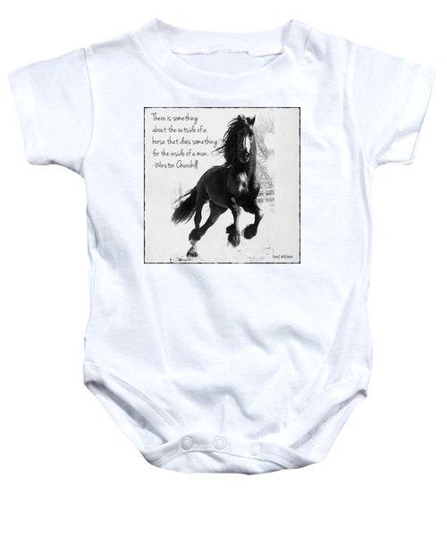 Horse's Profound Spirit  Baby Onesie
