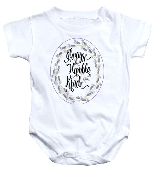 Humble And Kind Baby Onesie