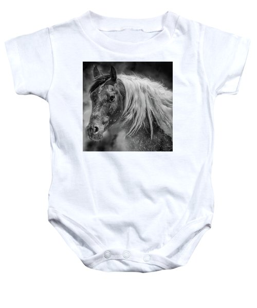 Baby Onesie featuring the photograph Into The Mist by Mary Hone