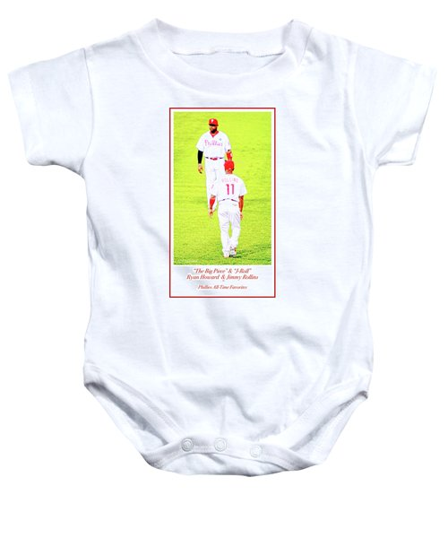 J Roll And The Big Piece, Ryan And Rollins, Phillies Greats Baby Onesie