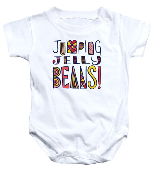 Jumping Jelly Beans Baby Onesie