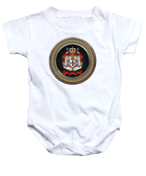 Knights Templar - Coat Of Arms Special Edition Over White Leather Baby Onesie