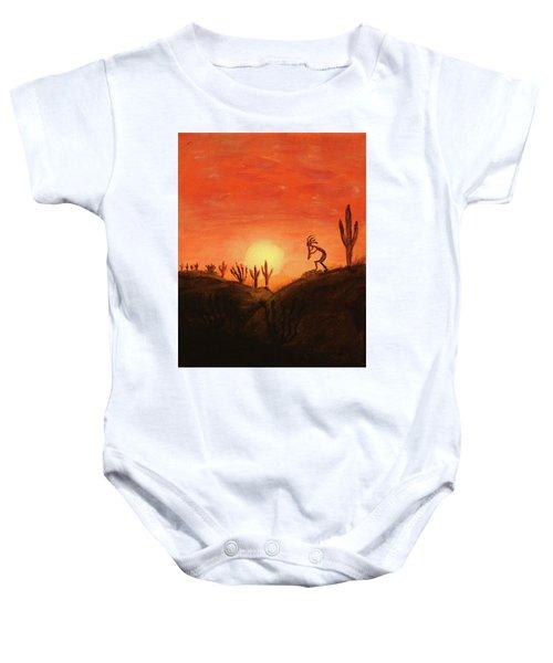 Kokopelli's Sunset Song Baby Onesie