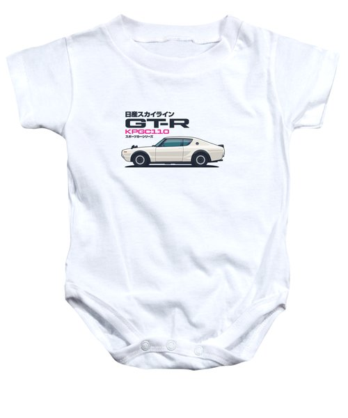 Kpgc110 Gt-r Side - Plain White Baby Onesie