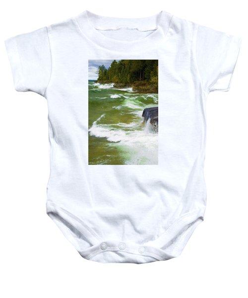 Lake Superior  Baby Onesie