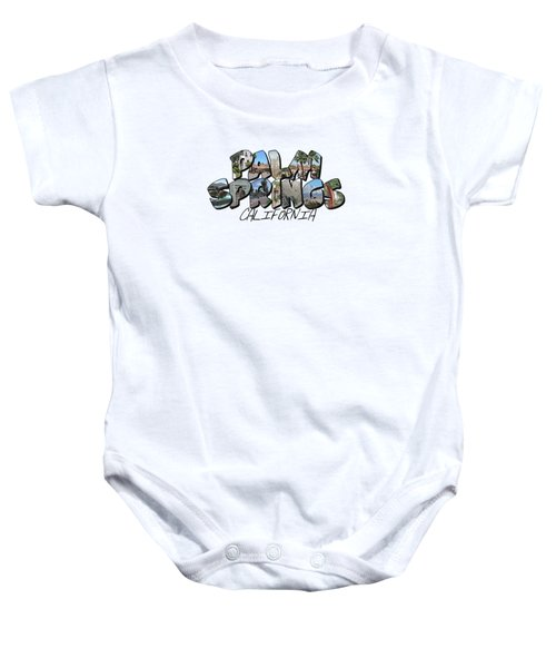 Large Letter Palm Springs California Baby Onesie