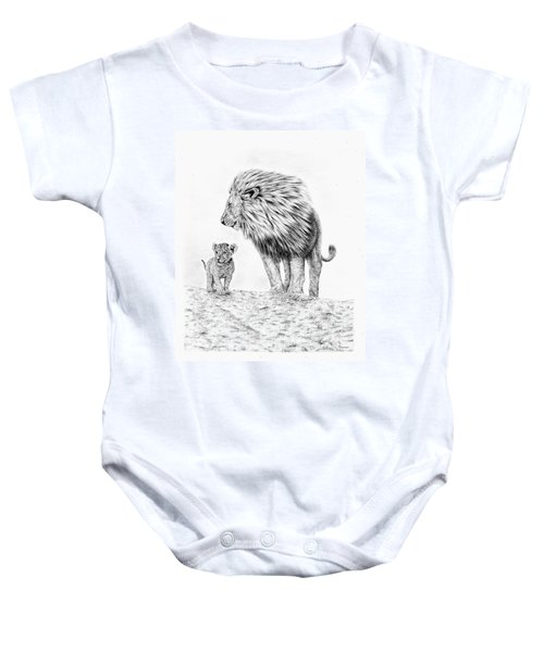 Lion And Cub Baby Onesie