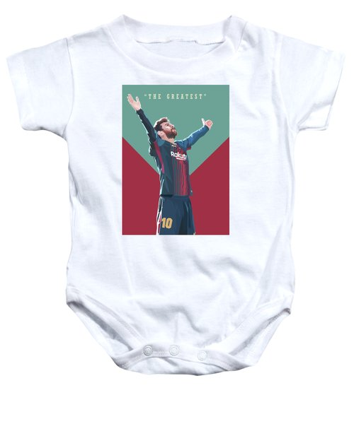 Lionel Messi The Greatest Baby Onesie
