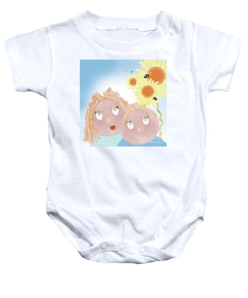 Little Ms And Bro Baby Onesie