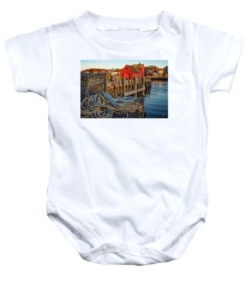 Lobster Traps And Line At Motif #1 Baby Onesie