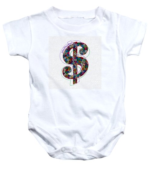 Louis Vuitton Dollar Sign-1 Baby Onesie