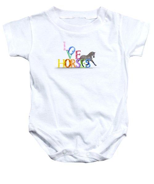 Love Horses Dapple Gray Baby Onesie