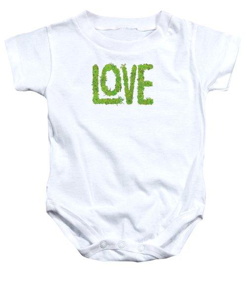 Love Succulent White Background Baby Onesie